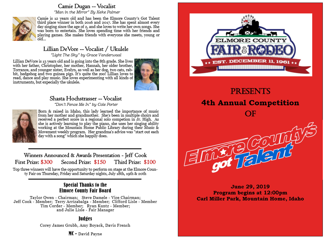 Elmore County Got Talent | Elmore County Fair and Rodeo